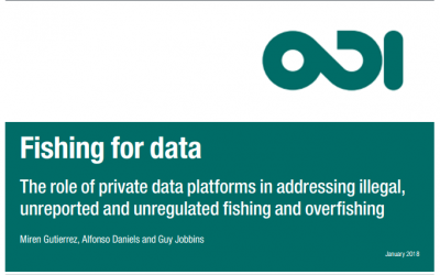 The role of private data platforms in addressing illegal, unreported and unregulated fishing and overfishing